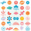 Vector Set: Retro Candy and Sweets Labels and Icons — Stock Vector #26498119