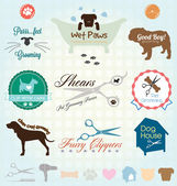 Vector Set: Pet Grooming Labels — Stock vektor