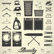 Vector Set: Laundry Room Labels and Icons — Stock Vector #28590425