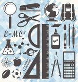 Vector Set: School Icons and Symbols — Stock Vector