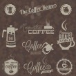 Stock Vector: Vector Set: Retro Coffee Shop Labels and Symbols