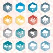 Vector Set: Weather Web Icons and Buttons — Imagen vectorial