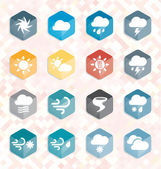 Vector Set: Weather Web Icons and Buttons — Stock Vector