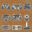 Vector Se: Retro Video Game Controllers — Stock Vector