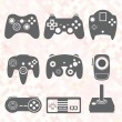 Vector Se: Retro Video Game Controllers — Stock Vector #35224581