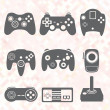 Stock Vector: Vector Se: Retro Video Game Controllers