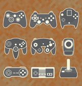 Vector Se: Retro Video Game Controllers — Stock Vector