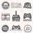Vector Se: Retro Video Game Labels — Grafika wektorowa