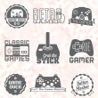 Vector Se: Retro Video Game Labels — Imagen vectorial