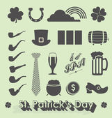 Vector Set: St Patricks Day Icons and Symbols — Stock Vector