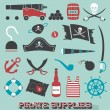Vector Set: Pirate Supplies Icons and Symbols — Stock Vector #41593089