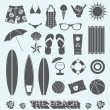 Vector Set: Beach Fun Objects — Stock Vector #42499165