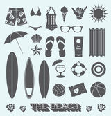 Vector Set: Beach Fun Objects — Stock Vector