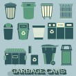 Vector Set: Garbage and Recycling Cans — Stockvektor  #42886329