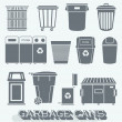 Vector Set: Garbage and Recycling Cans — Stockvektor