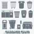 Vector Set: Garbage and Recycling Cans — Stock Vector #42886677