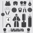 Vector Set: Boxing Objects and Icons — Stockvektor