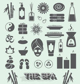 Vector Set: Day at The Spa Icons and Symbols — Stock Vector
