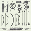 Vector Set: Archery Icons and Silhouettes — Stock Vector #46007387