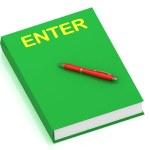 ENTER inscription on cover book — Stock Photo #12047366