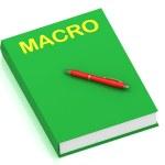 MACRO inscription on cover book — Stock Photo #12047375