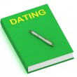 DATING name on cover book — Stock Photo #12324065