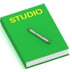 STUDIO name on cover book — Stock Photo #12324251