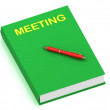 MEETING name on cover book — Stock Photo #12324348