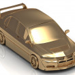 Stock Photo: Gold machine concept model