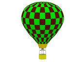 Air Balloon in a checkerboard — Stock Photo