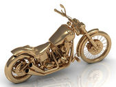 Motorcycle golden conceptual model — Stockfoto