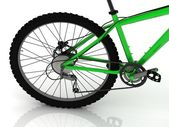 Cadena, engranaje y del deporte del pedal de la bicicleta — Foto de Stock