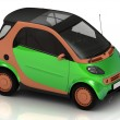 Stock Photo: Economical small green car