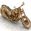 Stock Photo: Golden statuette of a powerful motorcycle