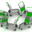 Carts on wheels for the airport — Stock Photo