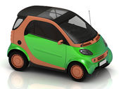 Economical small green car — Stock Photo