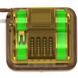 Stock Photo: Old gilded cash register
