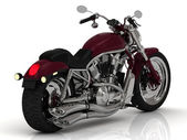 Chrome engine ile motosiklet — Stok fotoğraf