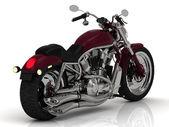 Motorcykel med en chrome motor — Stockfoto