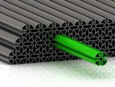 Concepto de perfil redondo verde — Foto de Stock