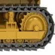 Stock Photo: Caterpillar track close-up