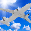 Stock Photo: Airliner rises into sky