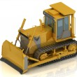 Stock Photo: Powerful yellow crawler