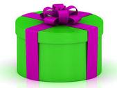 Groene geschenkdoos — Stockfoto