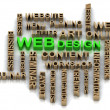 Green WEBdesign and other word — Stock Photo #39487763