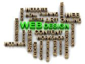 Green WEBdesign and other word — Stock Photo