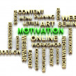 MOTIVATION and cloud tags from keywords — Stock Photo #39923119