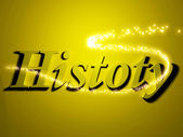 History 3d inscription with luminous line with spark — Stock Photo