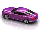 Premium lilac car with chromium wheels — Stock Photo