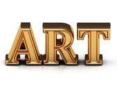 ART 3d inscription large golden letter  — Stock Photo